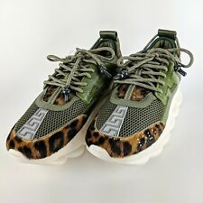 VERSACE Chain Reaction Green Multi Colored Fashion Sneaker Size 45 NEW
