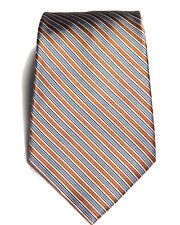 "Claiborne Neck Tie 100% Silk Handmade Multicolor Striped 59"" Length 3"" ¾ Width"