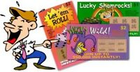 SET OF 25 FAKE LOTTERY PRANK TICKETS ( ALL WINNERS! )