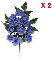 Lavender Rose Memorial Flower (Pack 2 Sprays) Indoor Outdoor Cemetery Grave