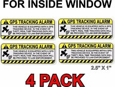 GPS ANTI-THEFT STICKER, INSIDE WINDOW, Vehicle Security Decal for Car Alarm