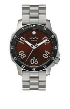 New Nixon Ranger Brown Sunray Dial Stainless Steel Men's Watch A5062097