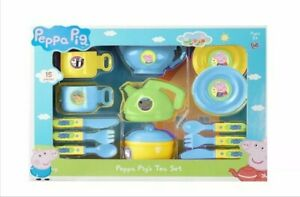 New Peppa Pig 15 Piece Tea Set role play gift for kids boys and girls