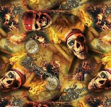 WATER TRANSFER HYDROGRAPHIC FILM HYDRO DIP HYDRO-DIPPING PIRATE SKULLS 1M