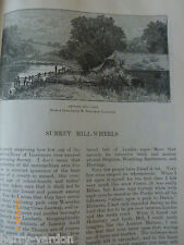 Surrey Local History Mill Wheels Old Victorian Illustrated Engravings 1886