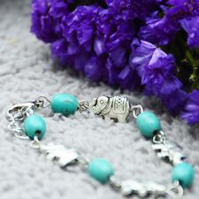 Bracelet Tibétain Eléphant en Turquoise reconstituée