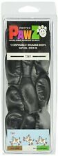 PawZ Protex Dog Boots Water-Proof Paws Disposable Reusable Tiny Black