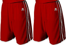 """NEW 2 PAIRS Men's L Russell Athletic True Red 11"""" Basketball Gym Shorts 34-38"""""""