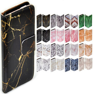 For Nokia Series - Marble Texture Print Theme Wallet Mobile Phone Case Cover #1