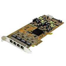 StarTech ST4000PEXPSE 4-Port Gigabit PoE PCIe Network Card - PSE / PoE PCIe NIC