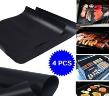Lot of 4 Mats Easy Bbq Grill Mat Bake NonStick Grilling Mats As Seen On Tv