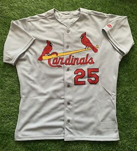 Mark McGwire St. Louis Cardinals Player Team Issued Jersey Signed 2001 JSA
