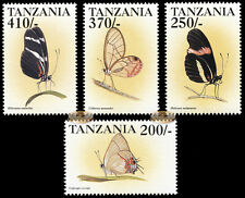 Tanzania. 1999. Butterflies from around the World (MNH OG) set of 4 stamps