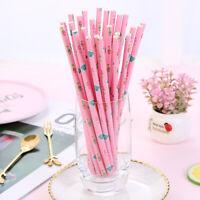 25pcs Mermaid paper straws drinking straws birthday party dessert table propsL S