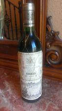 Excelente Botella de Vino Marqués de Riscal 1989 Reserva