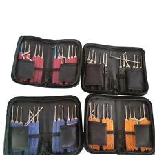 17Pcs Practice Lock Pick Tool Kit Padlock Locksmith Lockpick Unlocking Tool Set