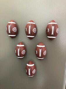 OHIO STATE BUCKEYES  - (LOT of 6) FRIG MAGNETS FOOTBALL
