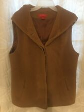 ITALA TESTINO Alpaca Button Front Hooded Lined Vest XXL