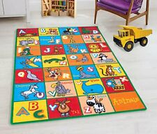 Teaching Abc Animals Kids Rugs Educational play mat Non-Slip Rug for Playroom