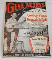 Gene Autry's Sensational Collection of Cowboy Songs, 1934, vintage sheet music