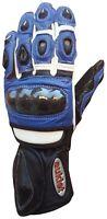 Guanto Pista Racing Sport Protezioni Tecnico Professionali Pelle Moto Auklet
