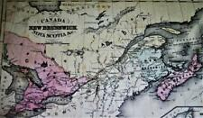 RAND MCNALLY SYSTEM OF GEOGRAPHY ATLAS MAP NO.4 EASTERN CANADA 1870s VINTAGE