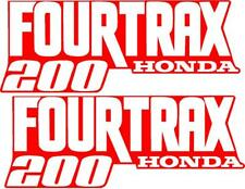 Honda Fourtrax 200 Gas Tank  Decal set stickers moto hrc Set of 2