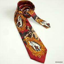 Gianfranco FERRE Vintage Silk Tie Renaissance Man Lion Boxing Belt 10cm SUPERB