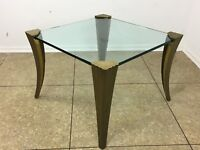 60er 70er Jahre Brutalist Bronze Coffee Table by Peter Ghyczy Space Age Design