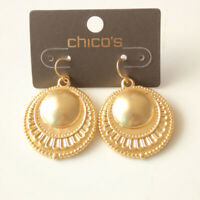 New Chicos Floral Round Drop Earrings Gift Fashion Women Party Holiday Jewelry