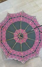 antik  Sonnenschirm Regenschirm - Flanierschirm Doppelbezug