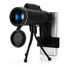 Monocular Telescope 40X60 BAK4 Night Vision Prism With Compass Phone Clip Tripod