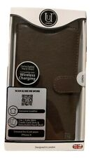 Unique London - Leather Folio Case for Apple iPhone X iPhone XS - Brown