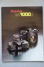 Mamiya NC 1000 S, folleto fascículo 16 páginas, coleccionista bonito Estado de septiembre de 1977