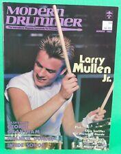 Modern Drummer August 1985 Larry Mullen Inside Sonor NO Mail Label BRAND NEW!