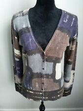 Magaschoni Cashmere Multicolor Cardigan Sweater Size Medium