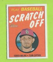 2019 Topps Heritage Scratch Off - Yadier Molina (7 of 15)  St Louis Cardinals