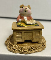 Wee Forest Folk M-56 School Marm Mouse (Pink Dress) 1981 RETIRED M-056