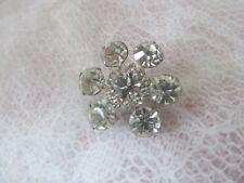 large crystal rhinestones Vintage brooch composed of