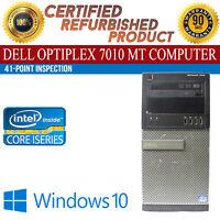Dell OptiPlex 7010 MT Intel i5 8GB RAM 500GB HDD Win 10 USB VGA B Grade Desktop