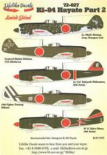 Lifelike Decals 1/72 NAKAJIMA Ki-84 HAYATE FRANK Part 2