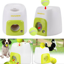 Automatic Interactive Pet Dog Treat Tennis Ball Toy Fetch Hyper Game Training UK