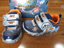 NEW SKECHERS DATAROX SAUDER STAR WARS BB-8 SHOES TODDLER BOY 7 Navy Orange $45.