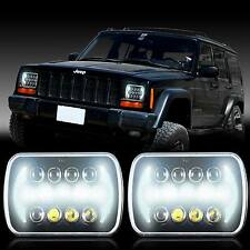 "2x New! PRO LED 5"" X 7"" LED Headlight Replacement for Jeep Cherokee XJ Trucks"