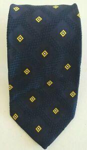 Brioni Mens Luxury Blue Graphic Neck Tie 100% Silk Made in Italy