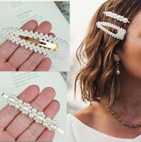 2 PCS Hot Korean Girl Pearl Hair clips Barrettes Bobby Pin Hair pin Headwear