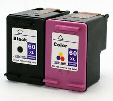 60XL Black+Tri-Color Ink Cartridge 2 Pack Set for HP Deskjet D1660