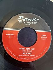 Double Sider Mel Torme - Comin Home Baby/Solomon Burke - Cry To Me - Burnetts Re