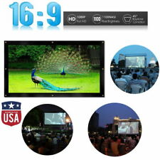 """150"""" Projector Screen 16:9 Projection HD Lightweight Manual Hanging Movie"""