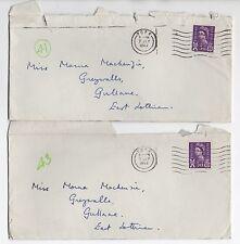 QEII 2 X 1962 (sello escocés) cubre York a GULLANE East Lothian Escocia SGS7
